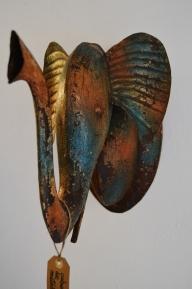 cabeza de elefante de metal