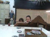 Laura y Gonzalo con su cabecero :)