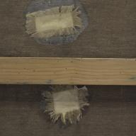 antiguos parches que afectan al anverso de la tela