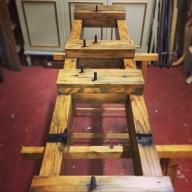 Restauración de la base del reloj de la Real Fábrica de Tabacos