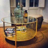 mesa de ikea dorada