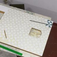 pintado de puerta con gatera